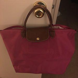 Pink medium Longchamp.
